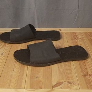 Gucci Shoes - COPY - Vintage Gucci Sandals Black Monogram Size …